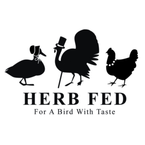 herb fed poultry logo
